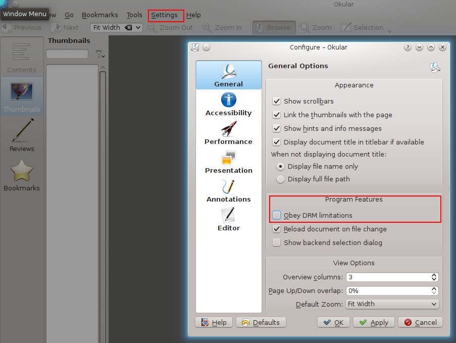 No, I don't want to obey DRM restrictions in PDFs