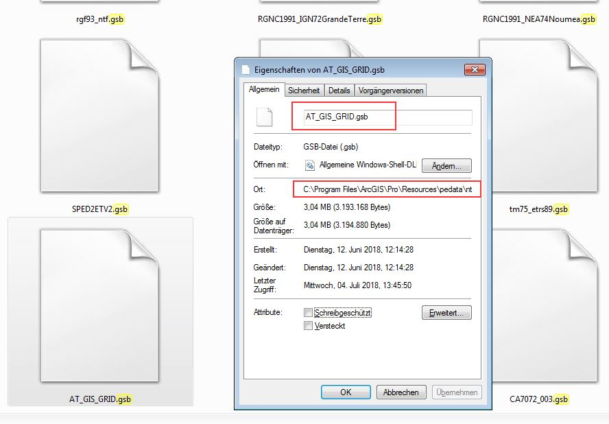 Update: AT_GIS_GRID Transformation ArcGIS Pro 2 2 and QGIS